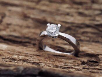 Anello Classico diamante Bianco