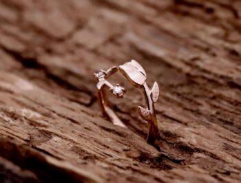 Anello Rosa Diamanti