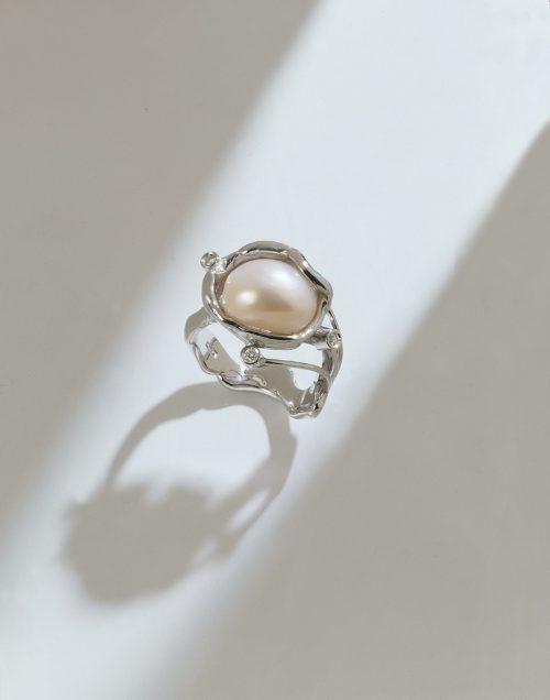Anello Maldive Perla Diamanti