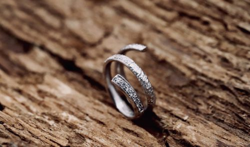 Anello Spirale Di Diamanti