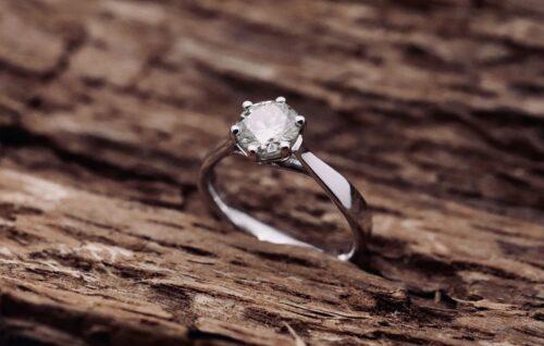 Anello Diamante Sei Punte