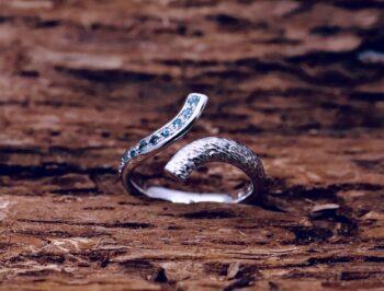 Anello Riflesso Acquemarine Bianco